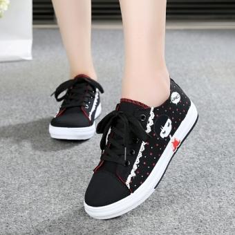 Sepatu Sneaker Sol Datar Remaja Sepatu Kain Kanvas Balita