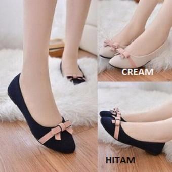 Flat Shoes Wanita Balet Pita pink G001