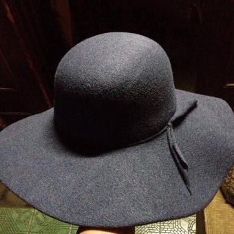 Cek Harga Baru D   D Fashion Floppy Hat Wide Ribbon Topi Pantai ... 626b8cbdc1