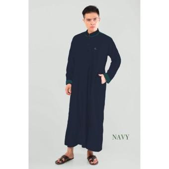 Fitur Gamis Jubah Pria Ahsanta Elegan Hitam Putih Moka Premium