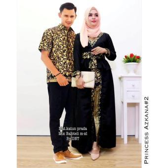 Fufuclothes - Princes Askana Batik Couple Sarimbit - Hitam