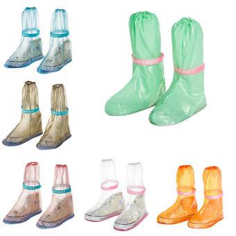 GAKTAI PVC Waterproof Penutup Sepatu Bisa Anti Slip Hujan SepatuBot Sepeda Motor Sepatu Luar (Berwarna