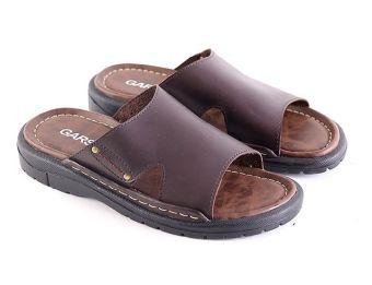 Garsel L189 Sandal Casual Pria - Synth - Keren (Coklat Tua)
