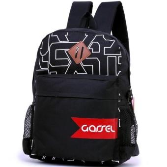Garsel Tas Ransel Backpack Sekolah Kuliah Kerja Trendy FDC5556 - Hitam