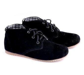 Garucci GNJ 9012 Sepatu Anak Casual Boots Laki-Laki - Suede - Keren (Hitam