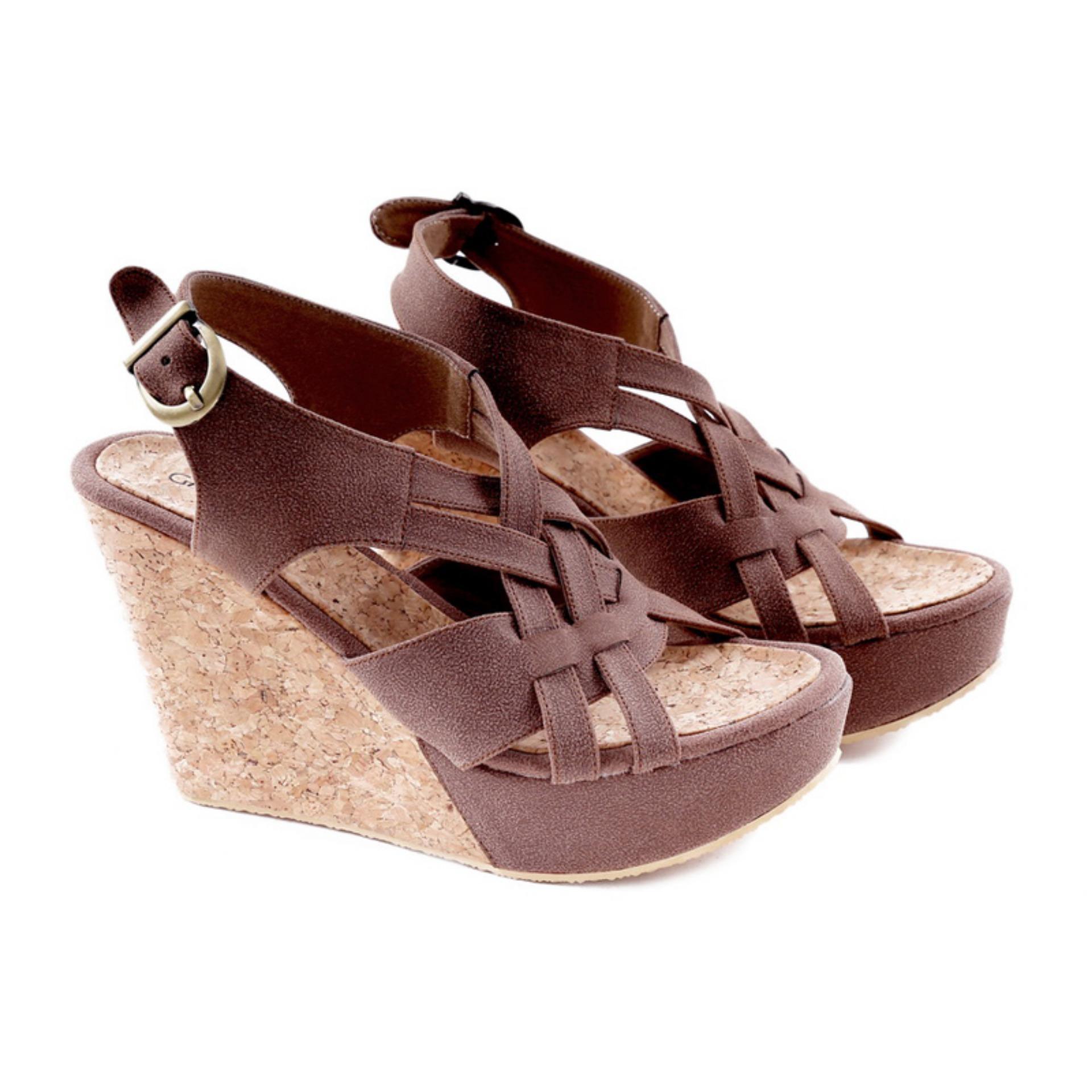 Garucci Gps 5120 Sandal Wedges Wanita Lak Synth Nyaman Hitam Mr91 Cream Shock Price Sepatu Bahan Grd 5056 Penjualan