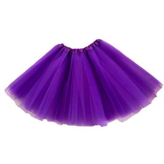 Anak Perempuan Tutu Rok Pesta Balet Dansa Pakaian Princess Dress Pettiskirt Kostum Ungu-Intl