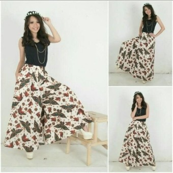 Glow fashion Celana batik kulot panjang wanita jumbo long pant Yummi