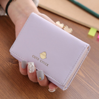 Golden Rooster Jianyue perempuan Jepang dan Korea Fashion Style cinta kecil dompet wanita dompet tas (