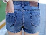 Grandwish Wanita Rok Denim Celana Palsu Doa Bang Bang Pendek Tipis S-3xl (Biru) - 3