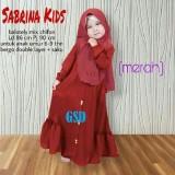 Gambar Produk Rinci GSD-Baju Gamis Anak/Baju Muslim Anak/Baju Anak Cewek/Baju Anak/ Gamis Sabrina Kids Terkini