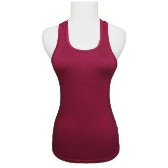 Gudang Fashion - Baju Feminim Tank Top Wanita - Ungu