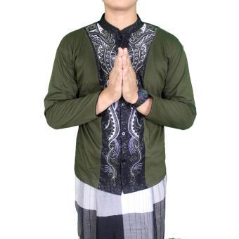 Gudang Fashion - Baju Koko Lengan Panjang Pria - Hijau