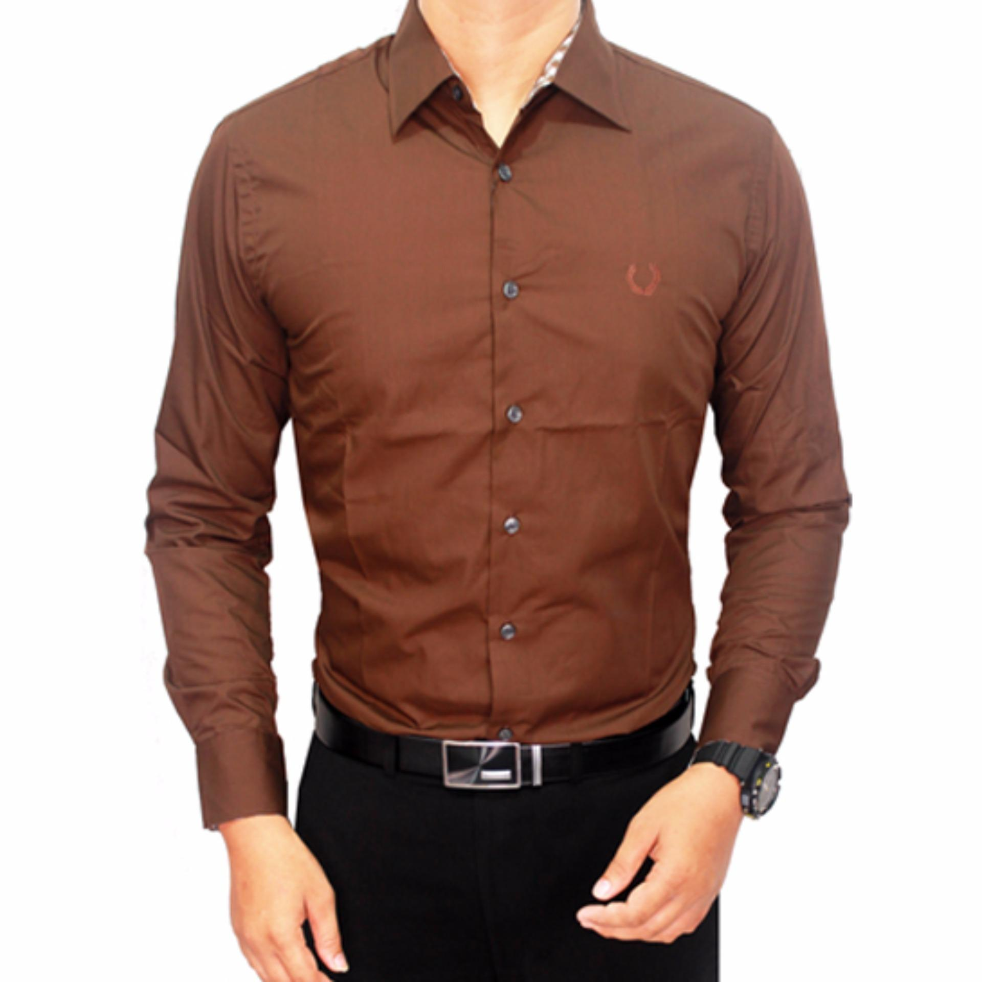 gudang fashion – formal male shirts – cokelat tua