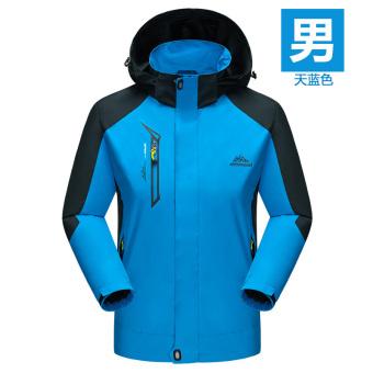 Beberapa Jaket Musim Dingin Luar Rumah Pakaian Hiking Pria dan Wanita Lapisan Tunggal Bagian Tipis (