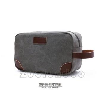 Handbag Kanvas Mugu Import - Zou Lun Duo 6041 Abu Abu - Tas Tangan Pria - b2225a543d69a