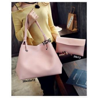 handbag korean style 4in1 (pink)