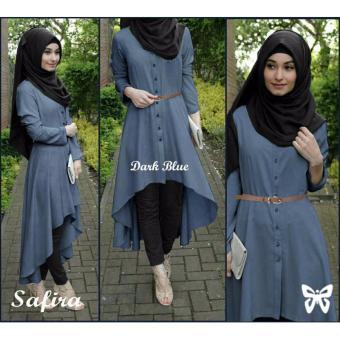 Hasanah Fashion Safira Tunic - Dark Blue