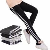 ... Hequ Women Fashion Stripe Training Sports Yoga Pants Leggings Elastic Gym Fitness Workout Running Tights Black