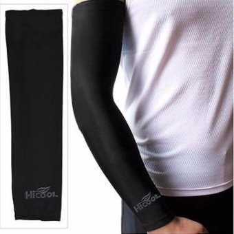 Hi Cool Arm UV Protection Cover Sepasang / Sarung Pelindung Lengan / Pelindung Sinar UV  - Black