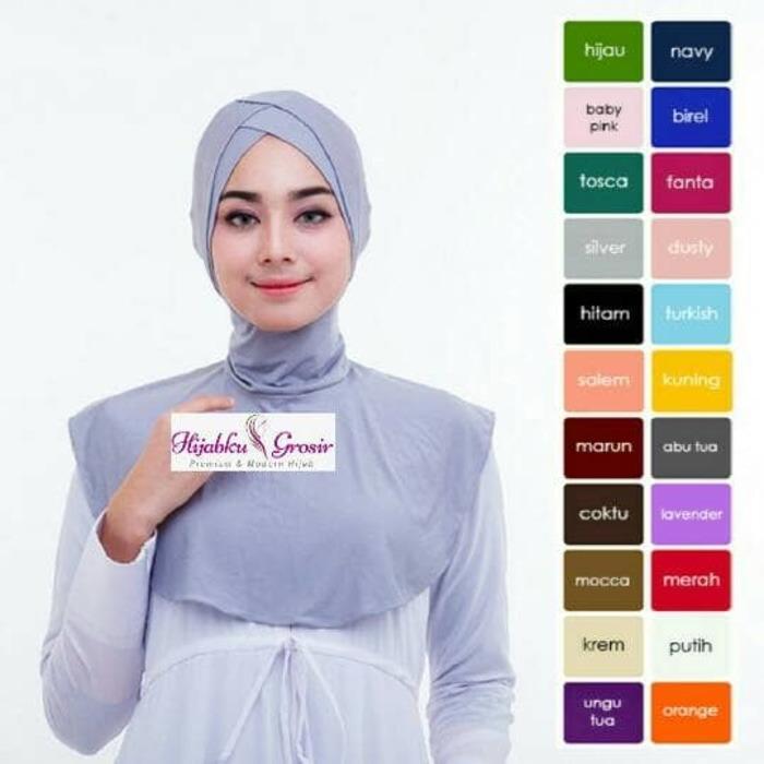 ... Shock Price Hijab Ciput Antem Premium Double Silang penjualan Hanya Rp39 653