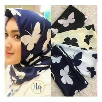 Hijab Kerudung Segi Empat WoolPeach Butterfly Purple