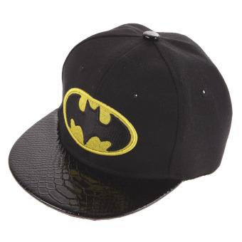 Hip Hop SnapBack Batman Topi Baseball Anak Topi Olahraga (hitam)- International