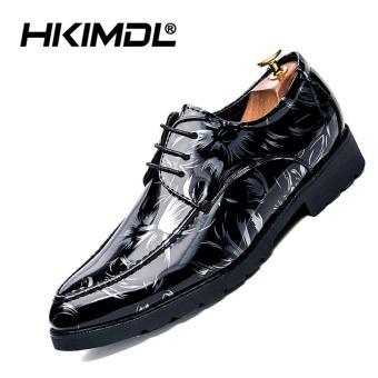 Hkimdl Kulit Pria Ujung Lancip Brogue Sepatu Formal Kerja Alas Kaki Berukir  Oxford Pernikahan Sepatu Kasut Lelaki Putih-Internasional ... 0e9c1d12d7