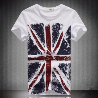 Huaway summer Top Men Short Sleeve t shirts casual England Britishflag print men t shirt men t-shirts Tops Tees us - intl