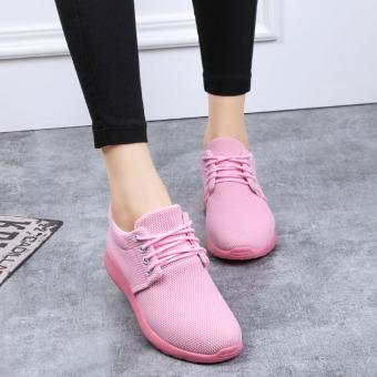 ... Hujan Gagang Bunga Sepatu Hak Perempuan Musim Gugur Baru Sepatu Sneakers Kasual Datar 8176 S