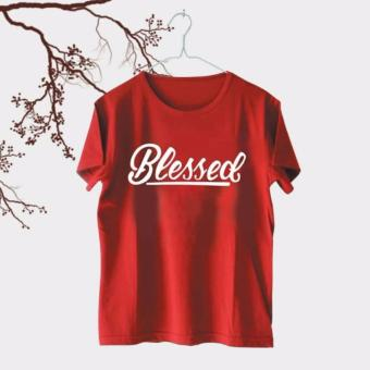Iconic Design Tumblr Tee / T-shirt / Kaos Wanita Blessed - Red