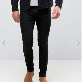 IDS Celana Skinny Jeans Pria Hitam