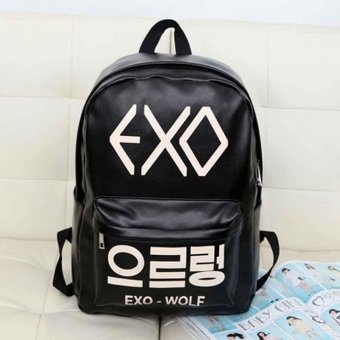 Japan and South Korea version of the new version of the backpack bag exo bag bag PU bag - intl