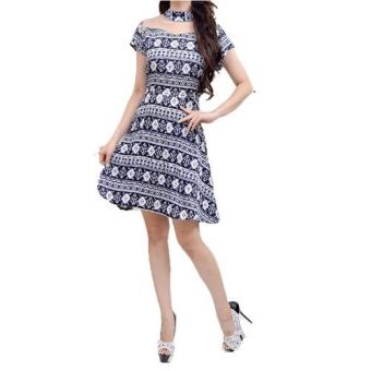Harga FEMME-Dress Ethnic 1613 Blue