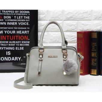 TAS IMPORT FASHION PC8803 GRAY SIZE 19X10X26CM BAHAN TAIGA