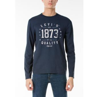 Harga Levi's Long Sleeve Graphic Tee - Dress Blues