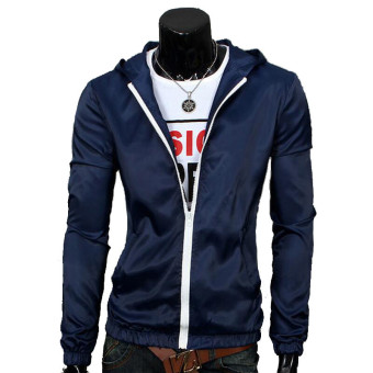 Harga Men's Waterproof Sports Jacket Thin (Navy Blue)
