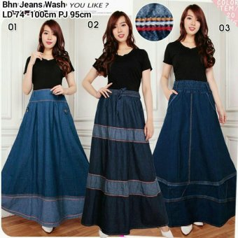 ... Dress Narika Jeans Overall Biru Tua Harga 168 Collection Rok Maxi Ayala Jeans Long Skirt 01