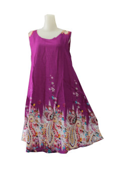 Harga Kampung Souvenir - Dress Payung Singlet - Ethnic Purple