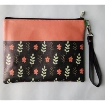 Harga Crable Stationery Pouch Flower Red - Besar