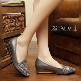 R2 Paris Wedges Sandal Lizar Cream - tempat jual Produk Popular Di ... ed0e54095c