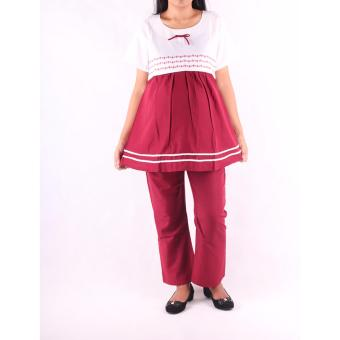 HMILL Baju Hamil Setelan Hamil Menyusui 058 - Merah