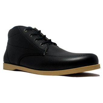 Harga D-Island Shoes High Bizarre Black Casual Leather