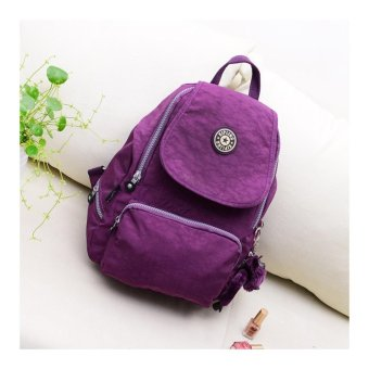 Harga Women fashion bag casual shoulder bag canvas backpack Day and night KIpling Style Backpacks School bag For Teenagers Girl's backpack(Purple) - intl