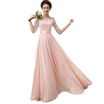 Harga Elegant Long Sleeve Ball Gown Evening Party Long Dress