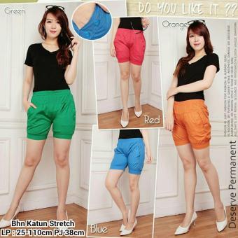 Harga Terbaru 168 Collection Celana Hotpant Winda Sort Pant-Merah
