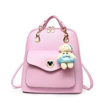 Genevieve 90097 - Tas Ransel Unik dengan Teddy Bear - Koreanstyle - tas  ransel wanita - f0fc0cd644