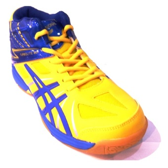 Harga Professional Turbolite MD Volleyball Shoes-Sepatu bola voli-Yellow/Blue-Silver