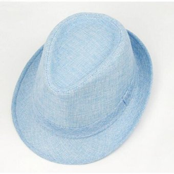 Cocotina Unisex topi pantai musim panas matahari Jazz Panama Brandal Cap topi Fedora Trilby pria wanita