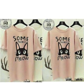 Harga Labelledesign Somethings Meow - Peach Salem